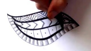 How To Draw a Tribal Maori Polynesian Tattoo Design Pattern