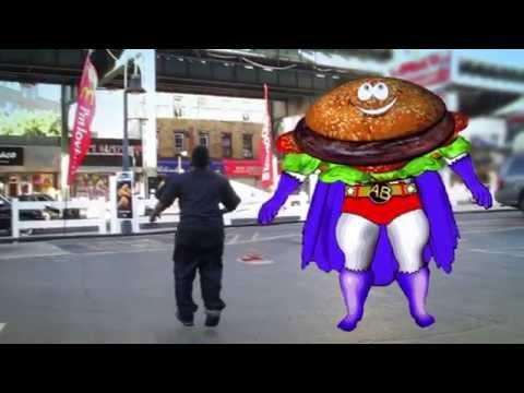 Mc Donalds vs. Action Burger. Didn't you see Super size me? Comics, Video games