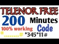 Telenor free internet trick 2018 100% working with proof