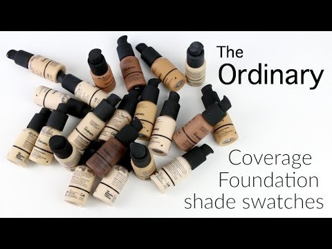 GET SWATCHED - The Ordinary Coverage Foundation shade swatches