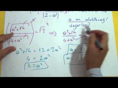 Karmaşık Sayılar 3 Şenol Hoca Matematik