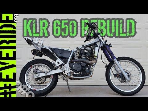 The Custom Kawasaki KLR 650 Rebuild BEGINS! Parts, paint, farkles, mods & plans! #everide