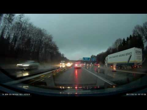 2h rainy german motorway A3 - no music - no talking - ambient sound - no loops - 1440p