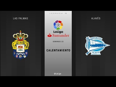 Calentamiento Las Palmas vs Alavés