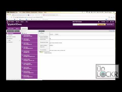 How To Add Yahoo Contacts to Your Android Device - YouTube