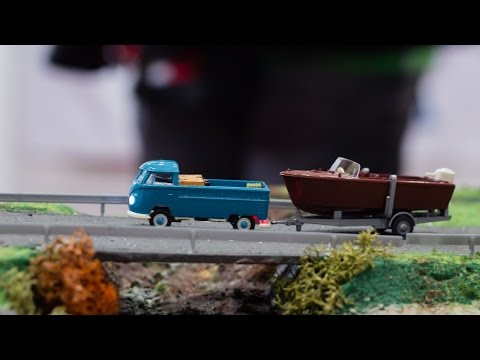 Faszination Modelltech 2014 VW Bulli, Loveparade Truck, Scania Schwertransport RC 1:87
