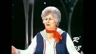 """Maude"" (Bea Arthur lookalike) sings ""You Made Me Love You"" on ""The ""Carol Burnett Show"""