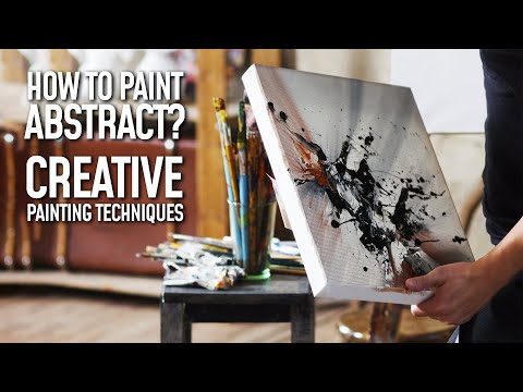 Sky Fall / Day 141 / Abstract Painting For Beginners / Easy Painting Ideas