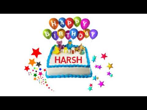 Happy Birthday Harsh Cake