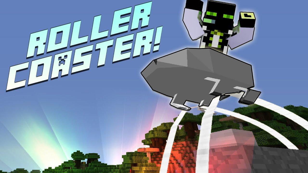 ROLLERCOASTER In MINECRAFT Minecraft Rollercoaster Times - Minecraft rollercoaster spielen