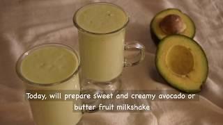 Avocado milk shake   How to Make Avocado Milk Shake
