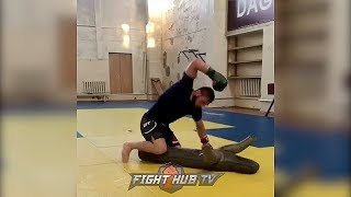 KHABIB NURMAGOMEDOV GOING CRAZY IN TRAINING FOR POTENTIAL CONOR MCGREGOR FIGHT!