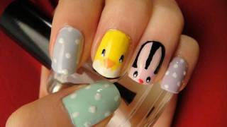 Easter Nail Art Tutorial: Bunny, Chick, and Eggs