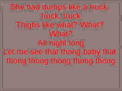 Glee Thong Song with lyrics