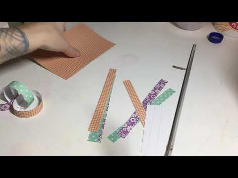 Making paper chains with no glue, tape, or staples!