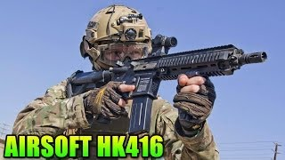 Airsoft Elite Force VFC HK416 Review & Gameplay