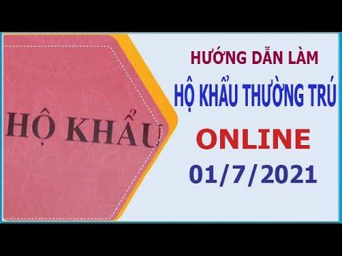 Hướng dẫn đăng ký làm hộ khẩu thường trú, tạm trú online 2021