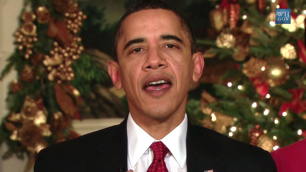 Christmas Wishes From President & Mrs. Obama - YouTube