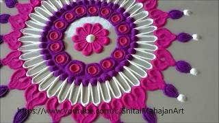 Innovative and Creative Rangoli Designs|Kolam|Muggulu|Easy Rangoli by Shital Mahajan