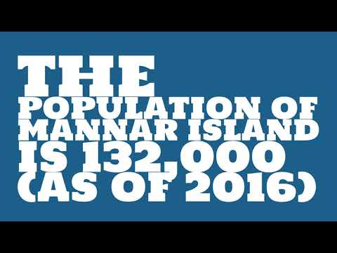 What is the population of Mannar Island?