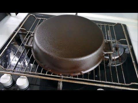 Подготовка чугунной сковороды к использованию