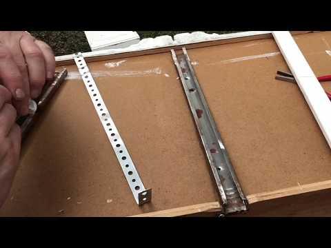 Fix Metal Drawer Tracks DIY Repair HACK Dresser Broken Tracks / Guides