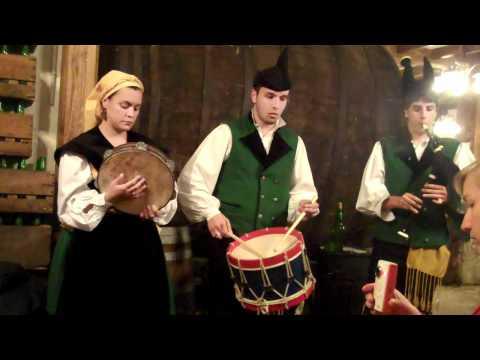 Asturian bagpipe trio