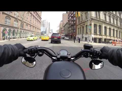 NYC - Brooklyn to Madison Square Park on my Iron 883 - 4.22.14 - Right Thing Motos