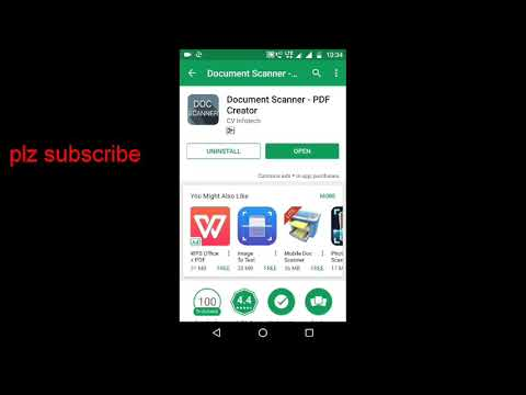 Scan documents with your mobile phone and pdf convert
