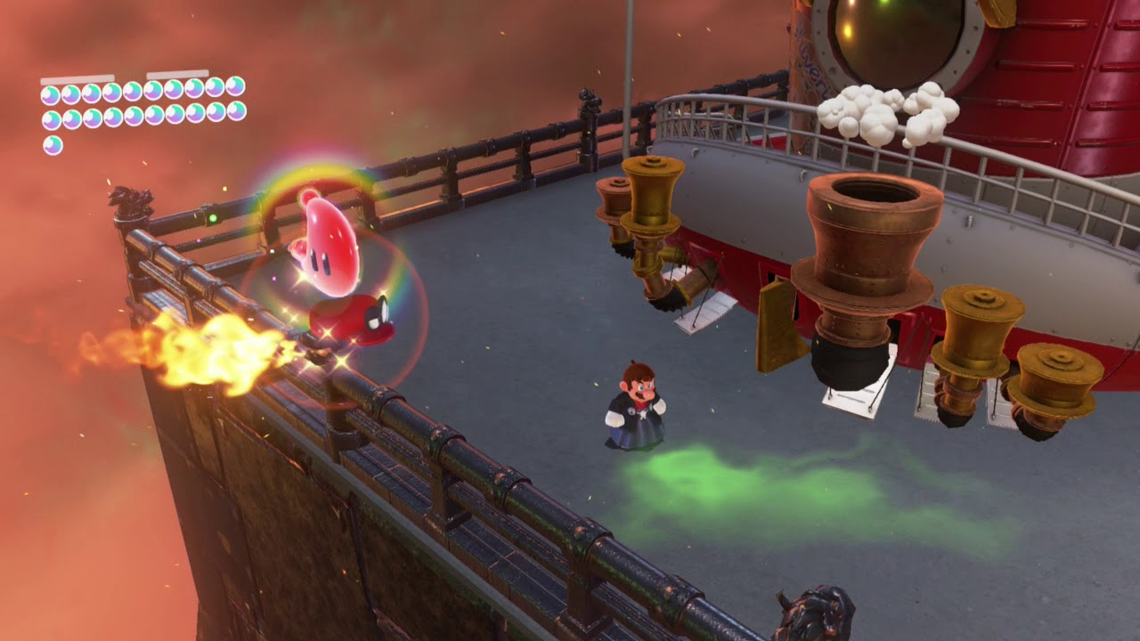 Bowser S Kingdom Power Moon 12 Caught On The Iron Fence Youtube