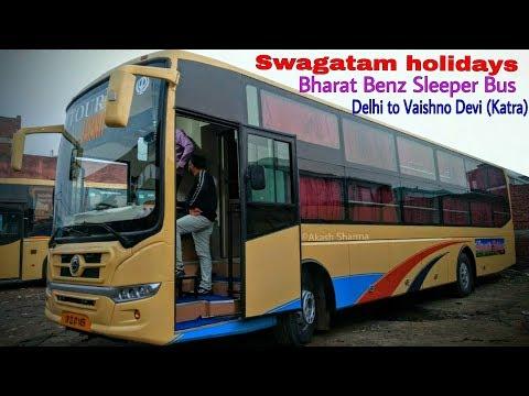 Indo Canadian (Ex-Swagatam holidays)Bharat Benz Sleeper Bus | Delhi to Katra || buses Dream Chaser||