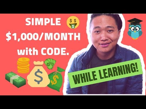 How To Make $1,000 Per Month With Code Easily