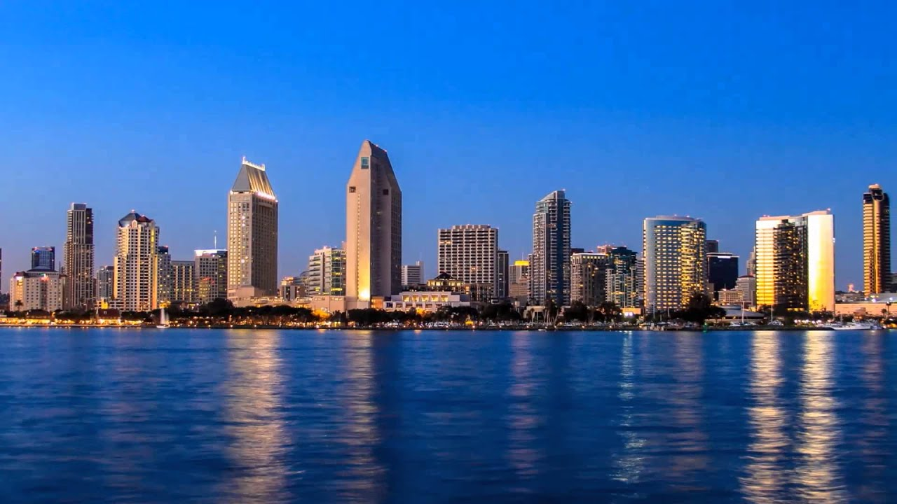 downtown san diego sunset time lapse youtube. Black Bedroom Furniture Sets. Home Design Ideas