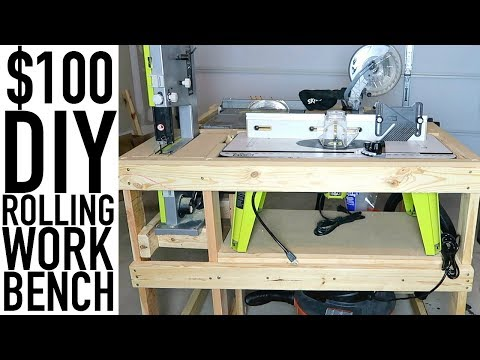 Diy Rolling Work Bench For Tools Under 100 Garage