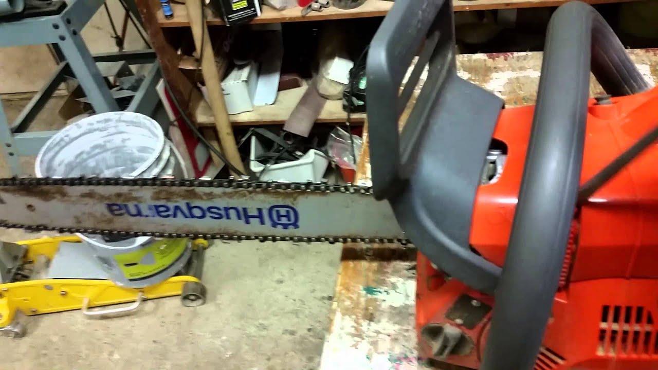 Husqvarna 445 Small Muffler Mod