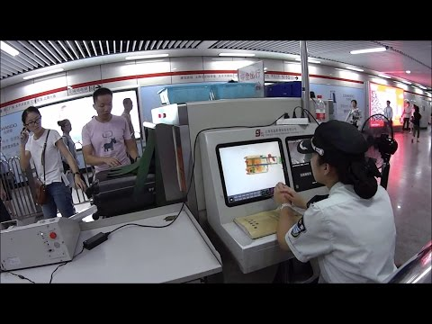 Security check in the Shanghai metro