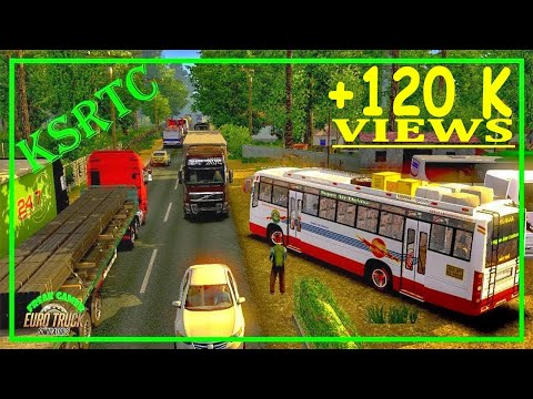 Euro Truck Simulator - KSRTC Minnal bus mode play
