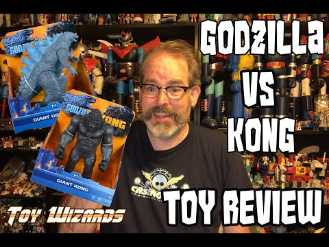 Godzilla VS Kong Playmates Toy Review Gigantic Godzilla and Gigantic Kong