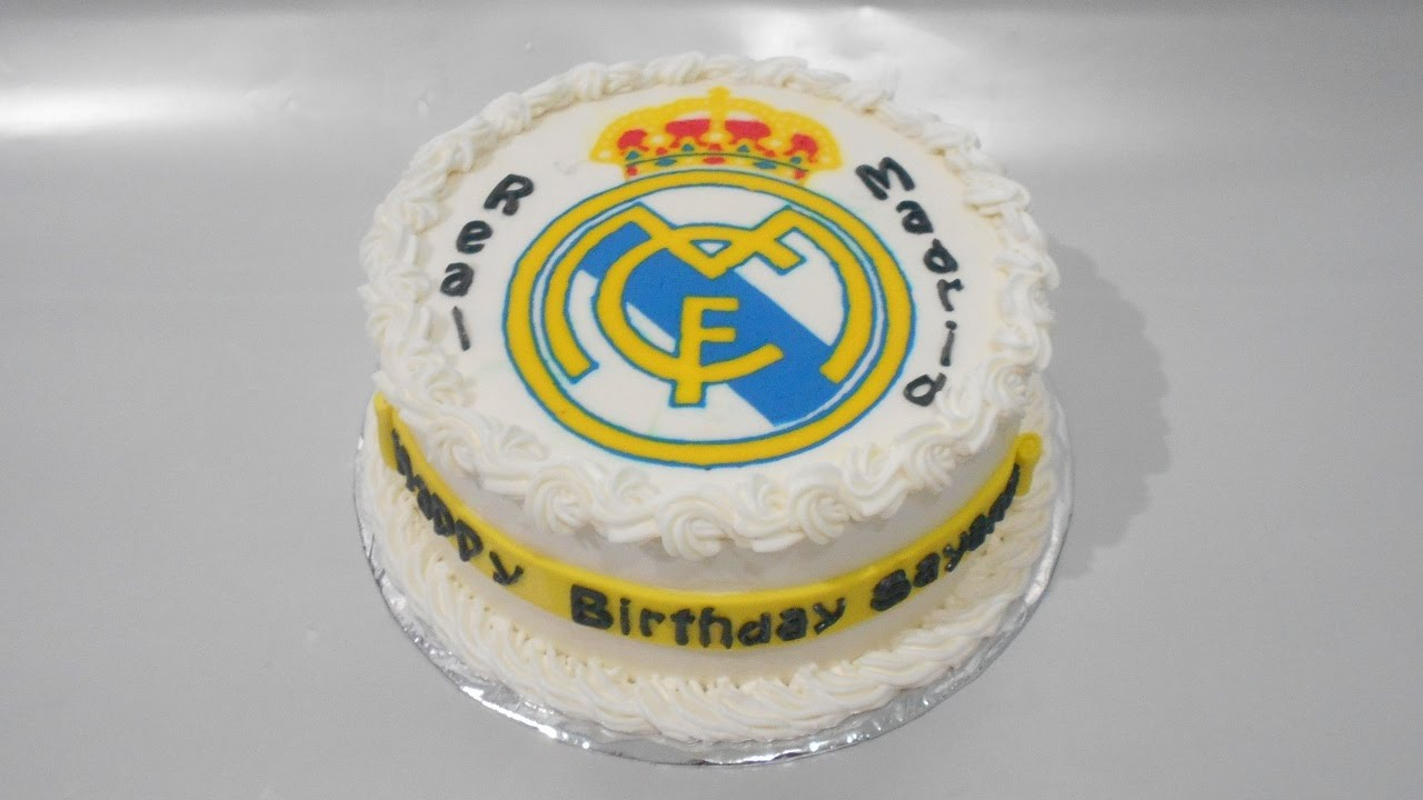 Real madrid cake decorations cake decor - Real madrid decorations ...