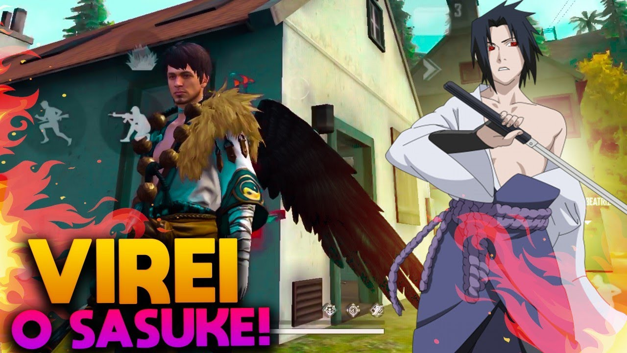 VIREI O SASUKE NO FREE FIRE