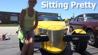 She is SITTING PRETTY at a Car show - 2002 Chrysler Prowler - 4k