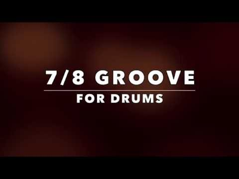 7/8 Groove Backing Track For Drummers (No Drums)