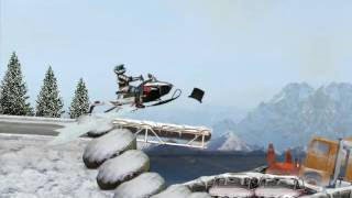 Snowmobile Winter Racing Games