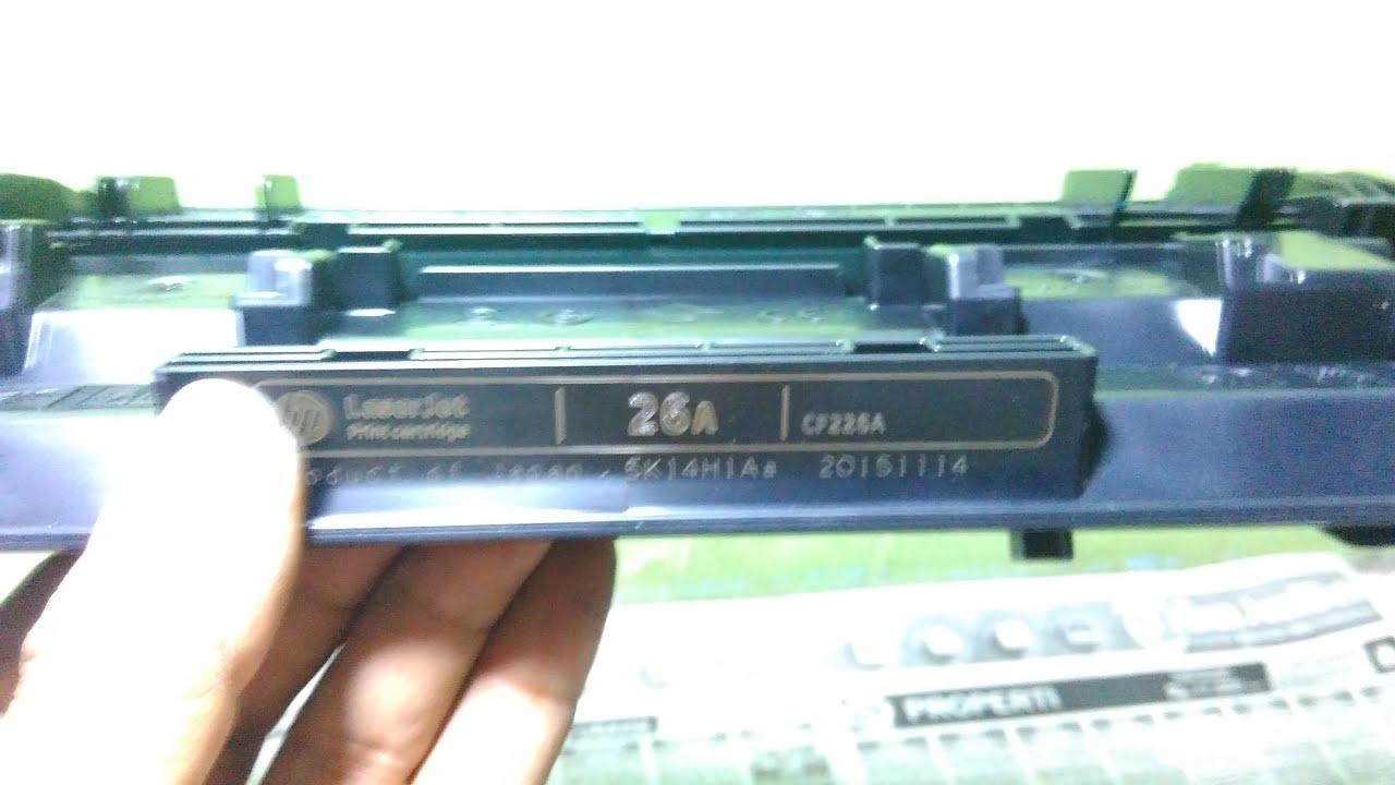 How To Refill Hp 26 A Toner Catridge Detail Video Laser Jet Tinta 126a Cmyk Laserjet Color Pro M402dw