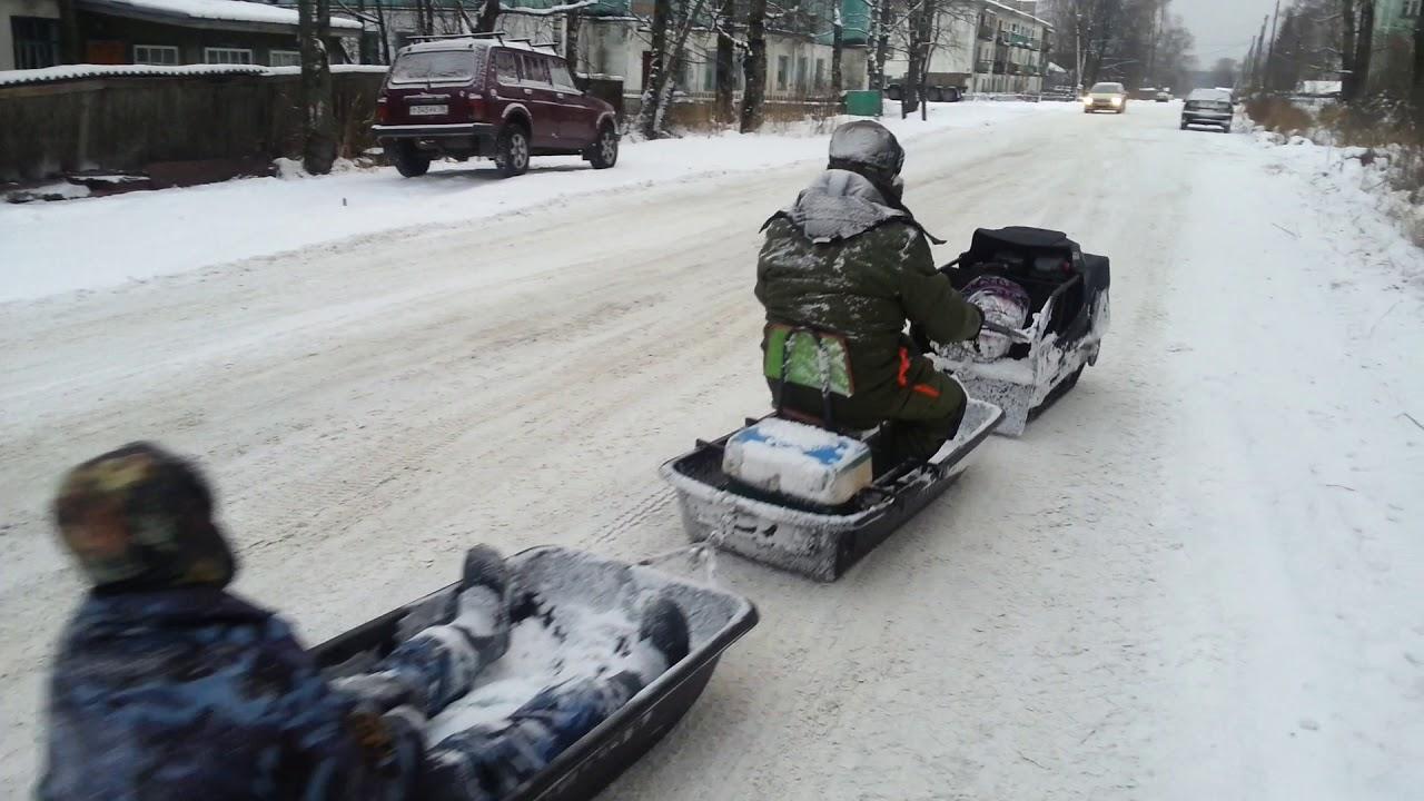 Кировская область, Вятка, пгт Лесной зимой_часть 2