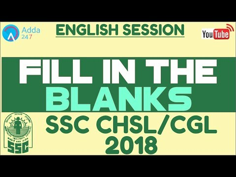 SSC CHSL, SSC CGL | Fill In The Blanks |  English | Online Coaching For SSC CGL