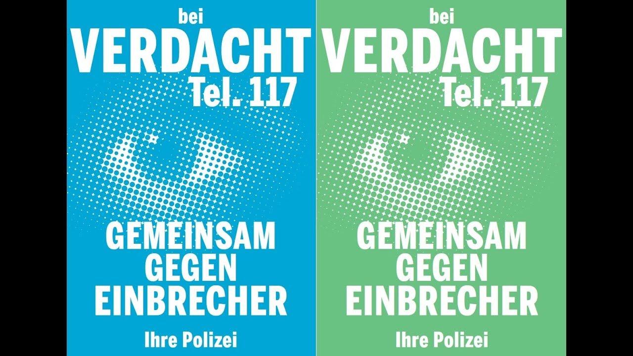 Gemeinsam gegen Einbrecher - Bei Verdacht 117 anrufen!