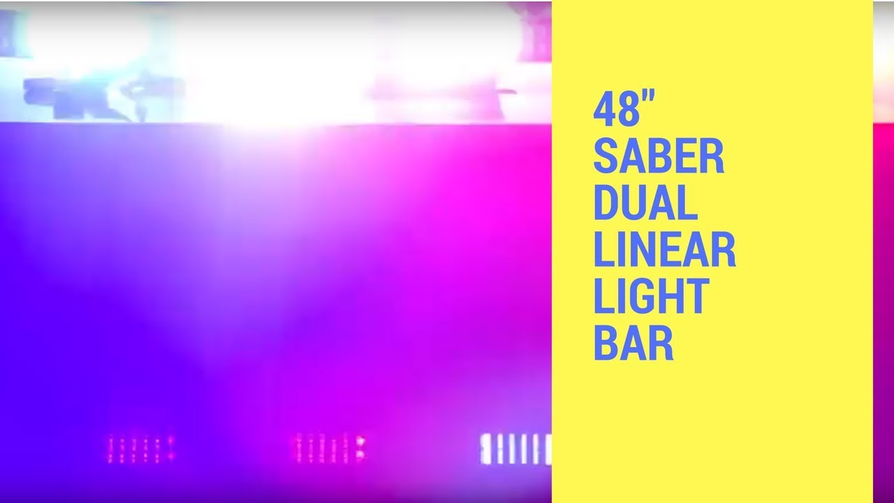 hight resolution of led outfitters led lightbars 48 saber dual linear light bar