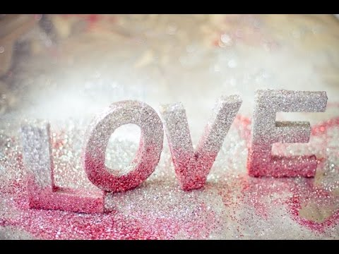 DIY Crafts 3D LETTERS Room Decor Ombre Glitter LOVE
