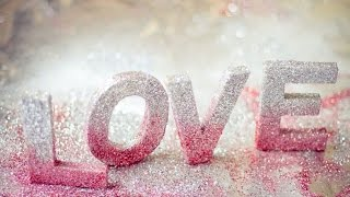 DIY crafts: 3D LETTERS (Room decor) Ombre Glitter LOVE Letters